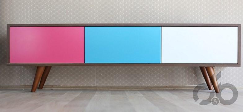 retro tarzı renkli tv ünitesi 479,99 TL