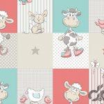 sevimli hayvanlar çocuk odası duvar kağıtları
