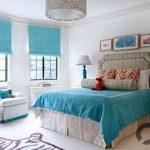 turkuaz yatak odası fikirleri