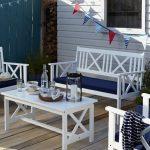 2016 beyaz bahçe mobilya seti