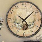 ahşap tasarım desenli dekoratif duvar saati