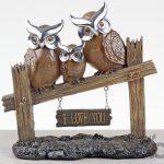 baykuş ailesi biblo