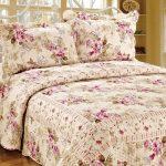cotton house cicek desenli yatak örtüsü 2016