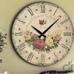 dekoratif vintage tarzı ahşap duvar saati 2016