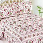 destina cicek desenli yatak örtüsü 2016