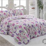 lila rengi ciceki yatak örtüsü 2016