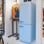 mavi smeg buzdolabı