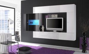 Modern Beyaz TV Ünitesi Modelleri