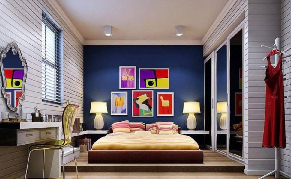 modern renkli yatak odaları