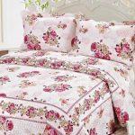 zarif cicek desenli yatak örtüsü cotton house