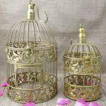 altın rengi dekoratif kuş kafesi 2016