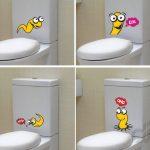 banyoya eğlence kayan stickerlar