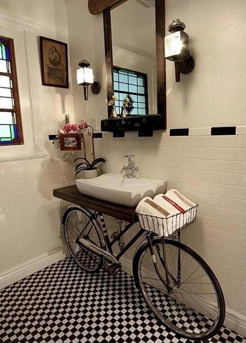 eski bisikletten banyo lavabosu yapımı
