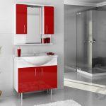 Bestline Auraline Vira kırmızı banyo dolabı takımı