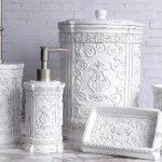 dekoratif beyaz antik banyo seti 2016