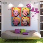 duvar dekorasyonu pop-art