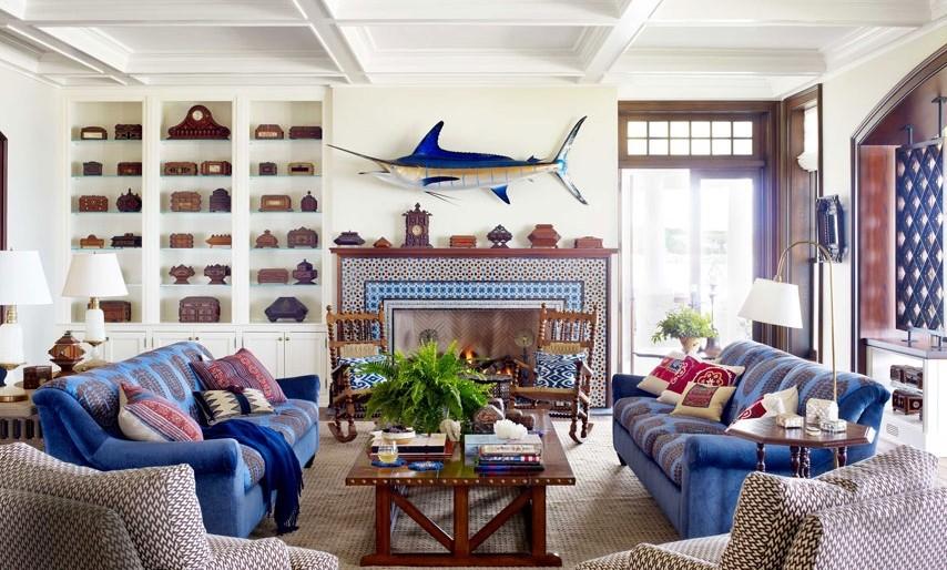 11 Stylish Art Deco Interior Design Inspirations For Your Home: Marin Stili Ev Dekorasyon Fikirleri