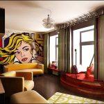 modern pop-art ev dekorasyonu