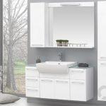 Orka Dalyan beyaz modern banyo dolabı takımı 2