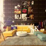 pop-art renkli ev dekorasyon fikirleri