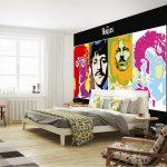 pop-art yatak odası dekorasyonu