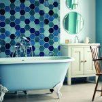 açık mavi vintage banyo küveti