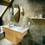 banyo doğal taş kaplama dekorasyonu