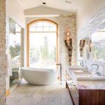 banyoda doğallık arayanlara taş duvarlar