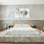 beyaz endüstriyel yatak odası