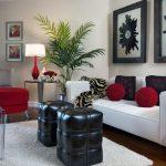 elegan oturma odası dekorasyonu