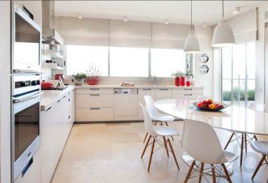 ferah beyaz modern mutfak dekorasyonu
