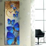 kelebek desenli dekoratif kanvas tablo