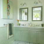 mint yeşili banyo dekorasyonu