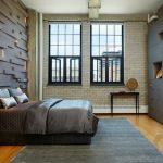 modern endüstriyel yatak odası