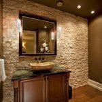 modern patlatma taş banyo dekorasyonu
