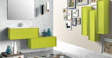 modern yeşil banyo dekorasyonu