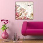 pembe motifli dekoratif kanvas saat