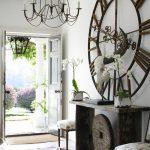 rustik tarzı evler için dev duvar saatleri