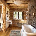 rustik tarzı samimi banyo dekorasyonu