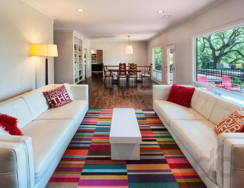 salon için renkli ve enerjik halı modelleri