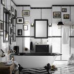 siyah beyaz modern banyo dekorasyonu