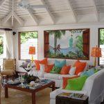 tropikal salon dekorasyon örneği