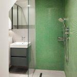 yeşil banyo fayans modelleri
