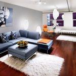 modern dikdörtgen oturma odası dekorasyonu
