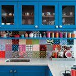 vintage baskılı dekoratif renkli fayanslar