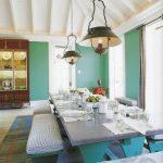 eklektik detaylar ile harika yemek odası