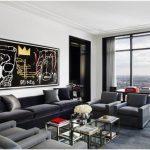 kadife koltuklu modern salon dekorasyonu