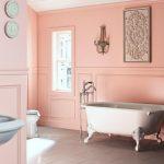 klasik tarz pembe banyo dekorasyonu
