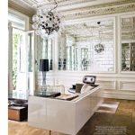 modern aynalı salon dekorasyonu