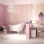 pembe banyo dekorasyonu